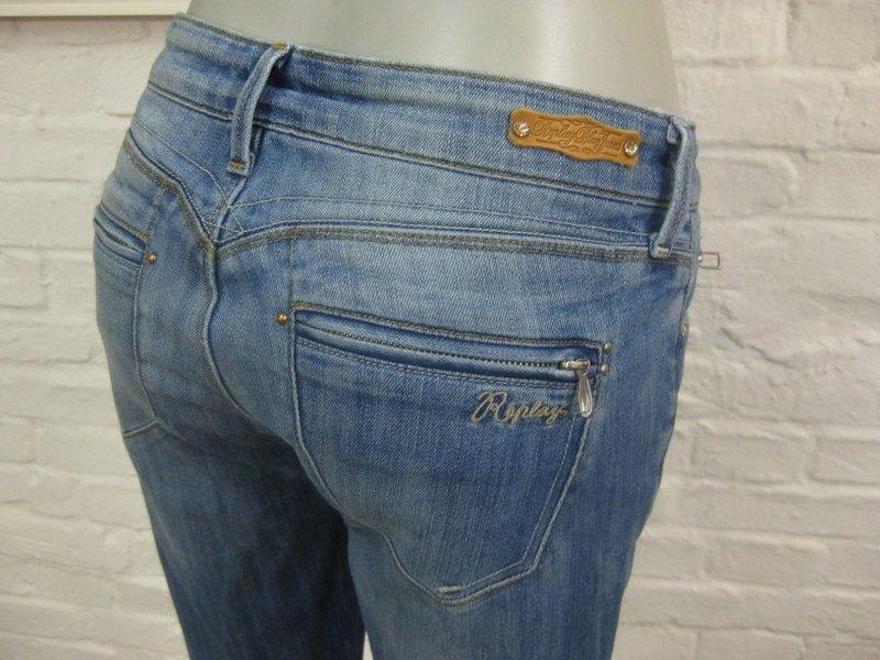 replay blue mod paubdul coole damen jeans w28 l30 blau denim m stretch ebay. Black Bedroom Furniture Sets. Home Design Ideas